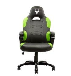 iTek Gaming Chair TAURUS P1 - Pelle sintetica PU, Nero Verde