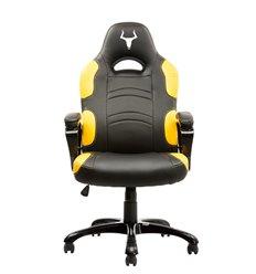 iTek Gaming Chair TAURUS P1 - Pelle sintetitca PU, Nero Giallo