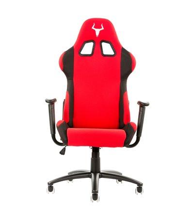 iTek Gaming Chair TAURUS S1 - Tessuto, Doppio cuscino, Nero Rosso