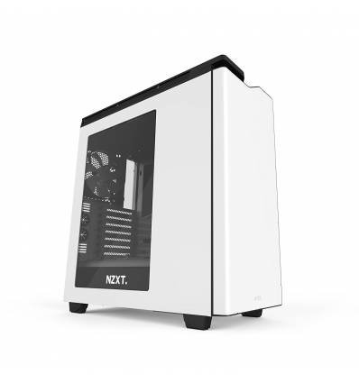 NZXT GAMING CASE WHITE/BLACK w WINDOWS MID TOWER CA-H442W-W1