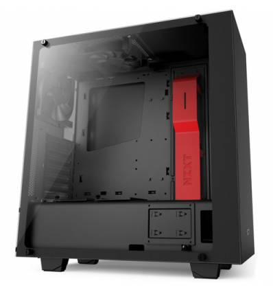 NZXT GAMING CASE S340 ELITTE MATTE BLACK/RED MID TOWER CA-S340W-B4