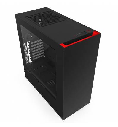 NZXT GAMING CASE SOURCE 340 BLACK + RED MID TOWER CA-S340MB-GR