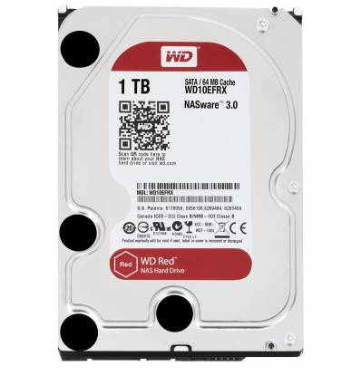 "Hard Disk interno 3.5"" Western Digital 1TB WD10EFRX, Red"