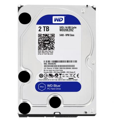 """Hard Disk interno 3.5"""" Western Digital 2TB WD20EZRZ, Blue"""